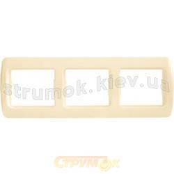 Рамка 3-постовая Рм-3-Sq-І слоновая кость АСКО