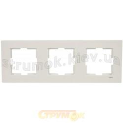 Рамка 3-постовая Viko Karre белый цвет 90960202