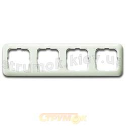 Рамка 4-постовая Busch-Duro 2514-212-К ABB Busch-Duro, Jaeger, Spring слоновая кость