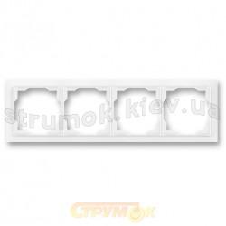 Рамка 4--постовая Neo 3901M-A00140 03 ABB белый цвет