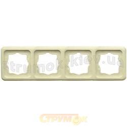 Рамка 4-постовая Regina 13012417 Hager / Polo слоновая кость