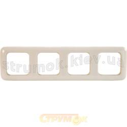 Рамка 4-постовая 2514-212-507 ABB Busch-Duro слоновая кость