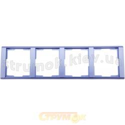 Рамка 4-постовая 3901F-A00140 31 ABB Time металлик / арктика
