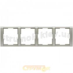 Рамка 4-постовая 3901F-A00140 32 ABB Time серебристый металлик