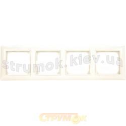 Рамка 4-постовая ABB Basic 55 2514-92-507 слоновая кость