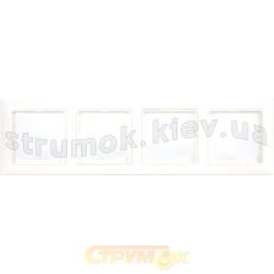 Рамка 4-постовая ABB Basic 55 2514-94-507 белый цвет