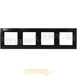 Рамка 4-постовая (антрацит) Fiorena 22011910 Hager / Polo