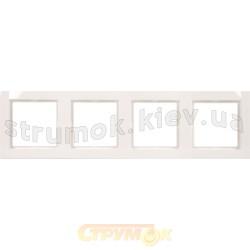 Рамка 4-постовая Fiorena 22011902 Hager / Polo белый цвет