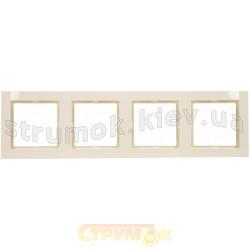Рамка 4-постовая Fiorena 22011903 Hager / Polo слоновая кость