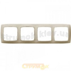 Рамка 4-постовая Fiorena металлик 22011909 Hager  Polo