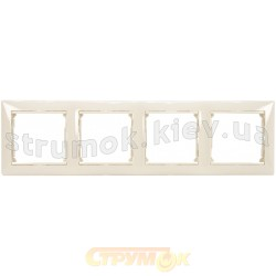 Рамка 4-постовая Legrand Valena 774354 слоновая кость
