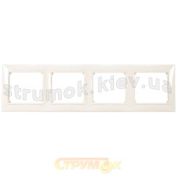 Рамка 4-постовая Legrand Valena 774454 белый цвет