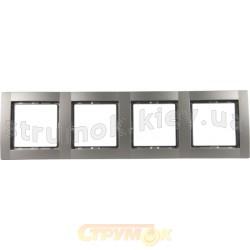 Рамка 4-постовая металлик-matt Fiorena 22011719 Hager / Polo