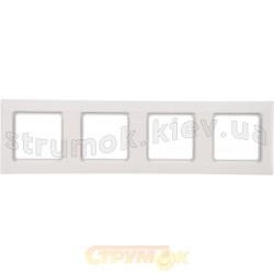 Рамка 4-постовая Optima 12011902 Hager / Polo белый цвет