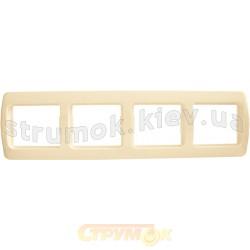 Рамка 4-постовая Рм-4-Sq-І слоновая кость АСКО