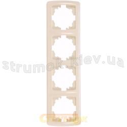 Рамка 4-постовая вертикальная Viko Carmen 90572004 кремовый цвет