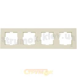 Рамка 4-постовая Viko Karre кремовый цвет 90960213