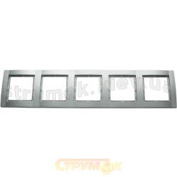 Рамка 5-постовая металлик-matt Fiorena 22012019 Hager / Polo