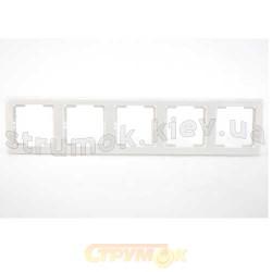 Рамка 5-постовая белый цвет PERA + вставка GES 2101-801-1501