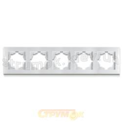 Рамка 5-постовая Erste Triumph белый цвет 9202-85,W