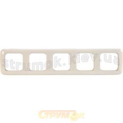 Рамка 5-постовая 2615-212-500 ABB Busch-Duro слоновая кость
