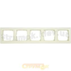 Рамка 5-постовая ABB Basic 552515-92-507 слоновая кость