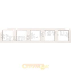 Рамка 5-постовая Fiorena 22012002 Hager / Polo белый цвет