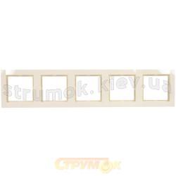 Рамка 5-постовая Fiorena 22012003 Hager / Polo слоновая кость
