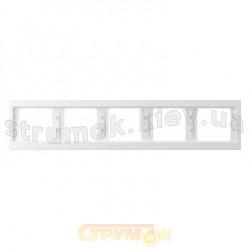 Рамка 5-постовая Fiorena металлик 22012009 Hager  Polo