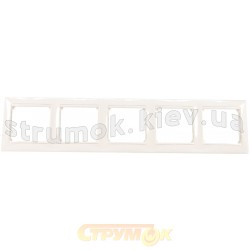 Рамка 5-постовая Legrand Valena 774455 белый цвет
