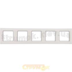 Рамка 5-постовая Optima 12012002 Hager / Polo белый цвет