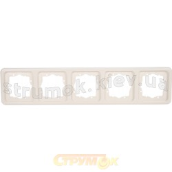 Рамка 5-постовая Regina белая 13012504 Polo / Hager