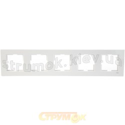 Рамка 5-постовая Viko Karre белый цвет 90960204