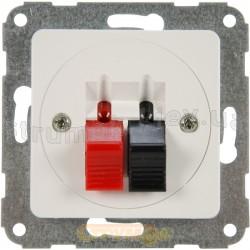 Розетка акустическая (аудио) HI-FI Hager / Polo Optima 12061001 белый цвет