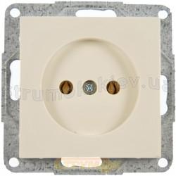 Розетка без заземления 16А ~ 250V Fiorena 22003003 Hager / Polo слоновая кость