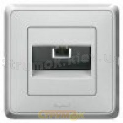 Розетка TF телефонная 1-одинарная 1хRJ11 Legrand Cariva  773638 белый цвет