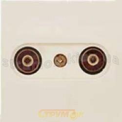 Розетка ТV-R телевизионная/радио проходная бежевый цвет 2100-150-0202 GES