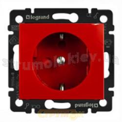 Розетка Z 2к+З Legrand Valena 774327 немецкий стандарт с блокировкой красный цвет