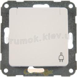 Розетка Z с заземлением/крышкой 16A Optima 12001302 Hager / Polo белый цвет
