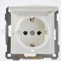 Розетка Z с заземлением / крышкой белый цвет 2100-110-0201 GES