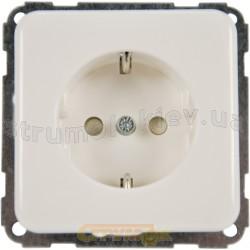 Розетка Z с заземлением / шторками 16A Regina Hager / Polo 13000704 белый цвет