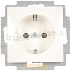 Розетка Z с заземлением / защитными шторками ABB Basic 55 20 EUCKS-94-507 16А белый цвет