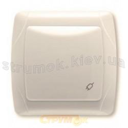 Розетка Z с заземлением / защитными шторками Viko Carmen кремовый цвет 90562042