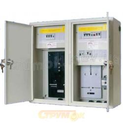 Щит металлический накладной Sabay NRL-36 на 36 модулей с местом под 3-фазный счетчик электроэнергии