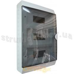 Корпус на 36 автоматов GUNSAN Visage пластмассовый наружный белого цвета с дымчатой дверцей