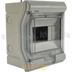Корпус внутренней установки 10 мод. VЕ110D IP65 VEKTOR (прозрачная дверка)