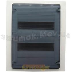 Щит пластиковый на 24 модуля врезной с прозрачной дверцей (2х12) GOLF VF212TD