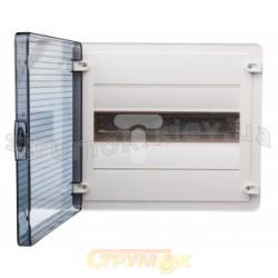 Щит пластиковый Hager 24 модуля (накладной) прозрачная дверца GOLF VS24TA