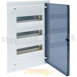 Щит пластиковый Hager на 36 модулей (2х18) GOLF VS218TD  накладной, прозрачная дверца