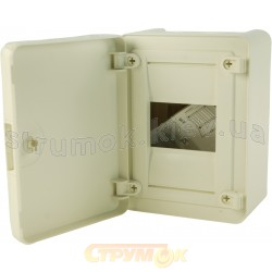 Щит пластиковый Hager на 4 модуля (1х4) накладной непрозрачная дверца GOLF VS104РD